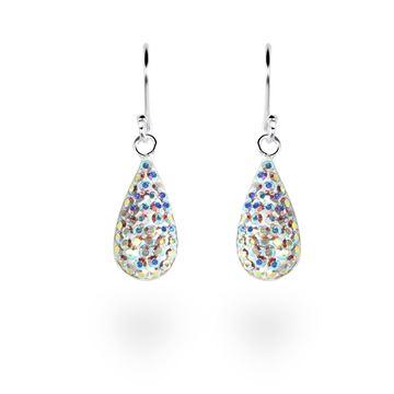 Picture of Crystal Teardrop Sterling Silver Earrings