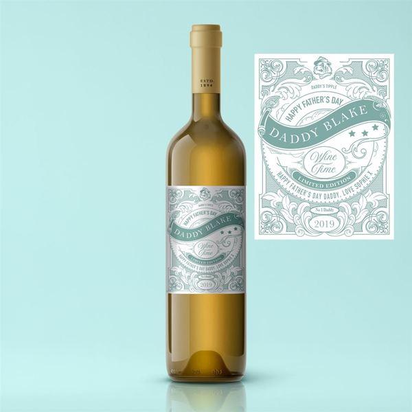 Picture of Vintage Father's Day Premium White Wine