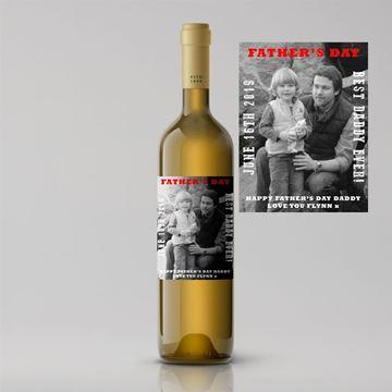 Picture of Black & White Photo Father's Day Premium White Wine
