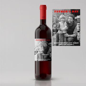 Picture of Black & White Photo Father's Day Premium Red Wine