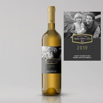 Picture of Split Design Photo Father's Day Premium White Wine