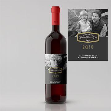 Picture of Split Design Photo Father's Day Premium Red Wine